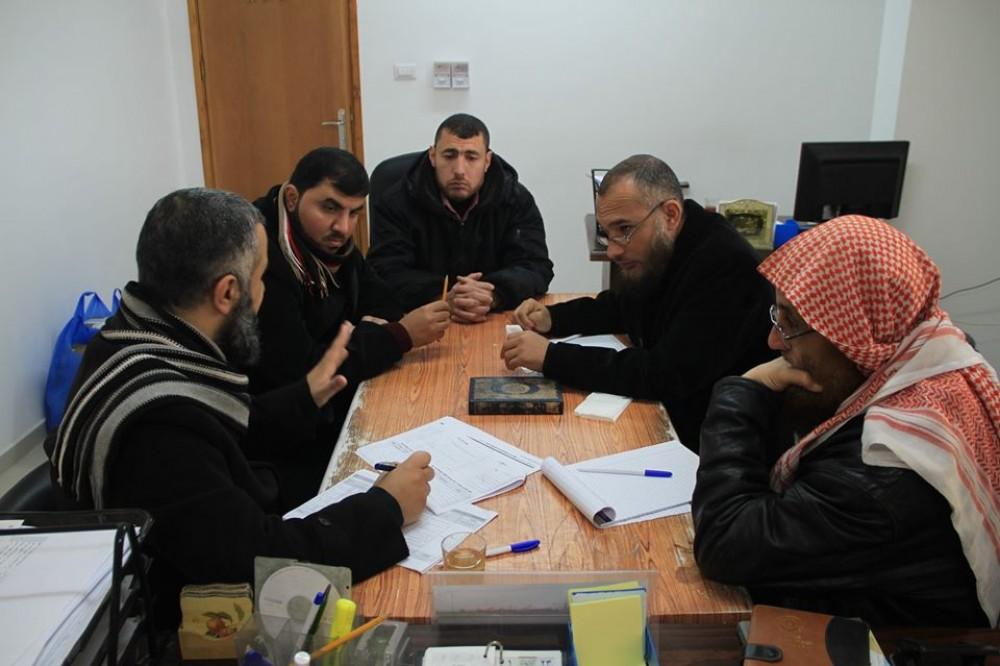 وعظ وإرشاد غزة يعقد اجتماعاً لوضع الخطة التشغيلية لعام 2020م