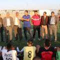 طاقم المنتخب الاولمبي يواصل زيارته الى غزة