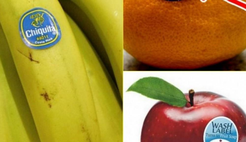 ما سر الملصقات التي توضع على الفواكه والخضار؟