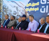 افتتاح سوق السيارات المركزي وسط قطاع غزة - تصوير/ رشاد الترك