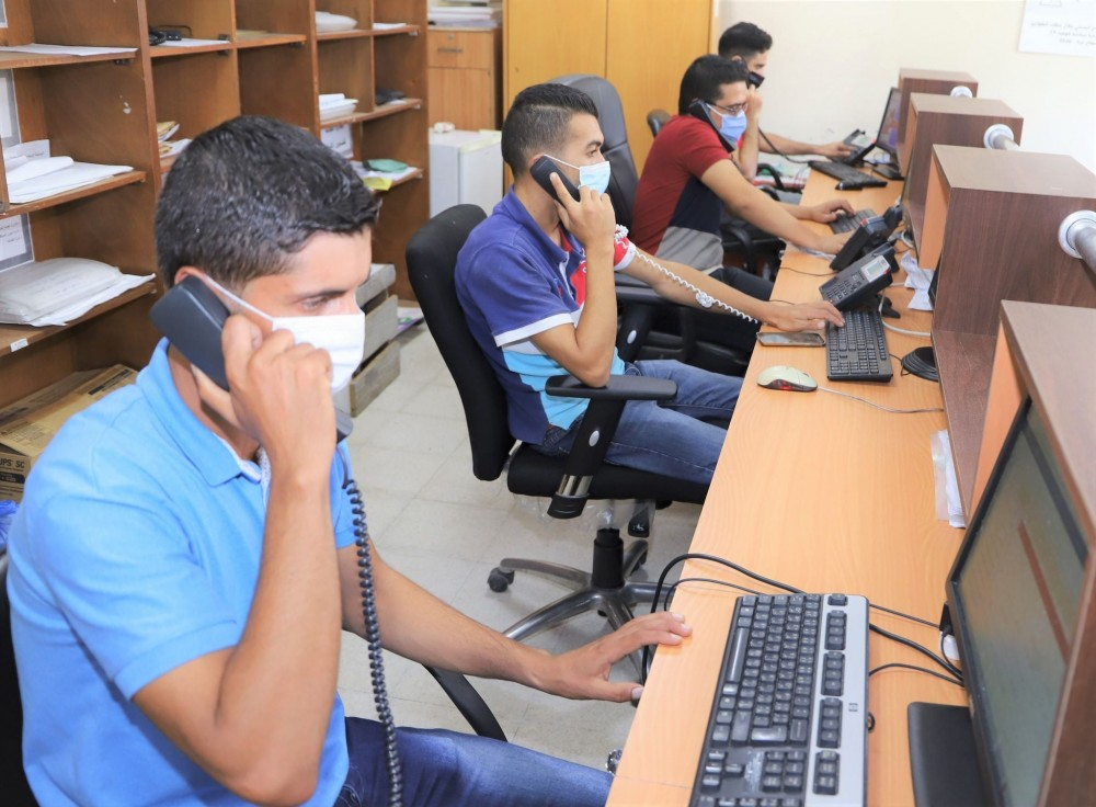 الكوادر العاملة في خدمة الاتصال الهاتفي