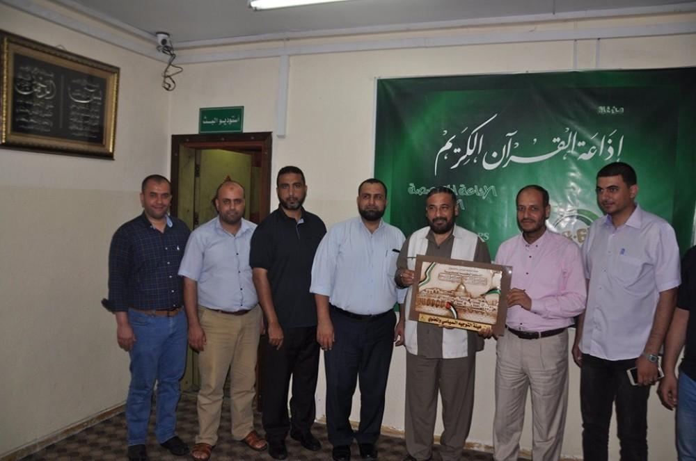 إذاعة القرآن الكريم  تبحث  التعاون المشترك مع  التوجيه السياسي