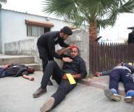 مناورة لفحص جهوزية المؤسسات الحكومية بغزة للتعامل خلال الطوارئ...تصوير | حسن الجدي