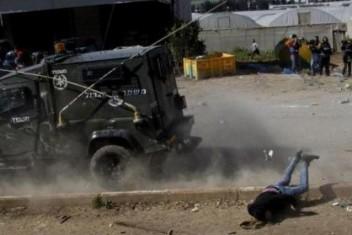 إصابة شاب دهسته قوات الاحتلال خلال اقتحام طوباس