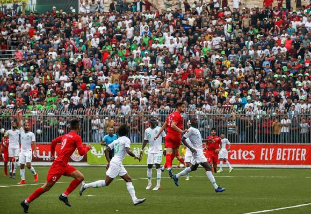 تعادل فلسطين والسعودية في المباراة المنتظرة وسط حضور استثنائي