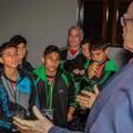 بعثة اكاديمية نادي هلال غزة الرياضي تلتقي برئيس ايرلندا