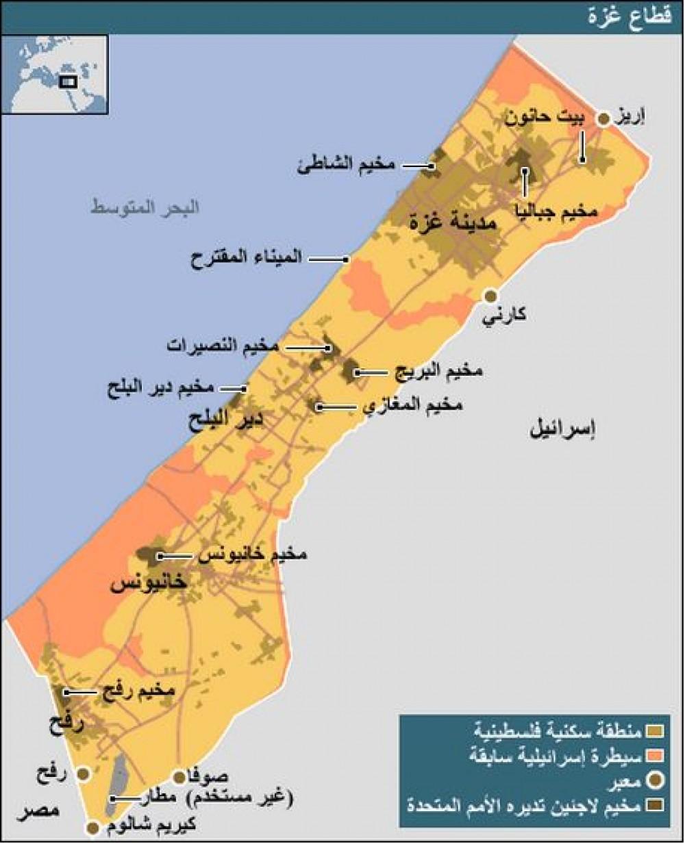 مخيمات قطاع غزة