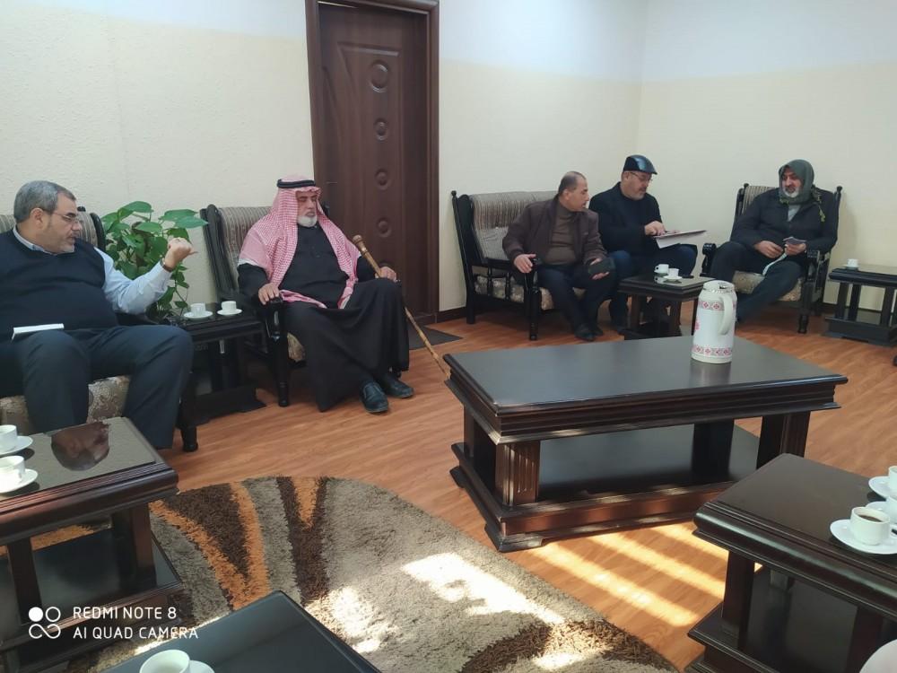 بلدية جباليا تناقش عدة قضايا مع لجنة حي عباد الرحمن