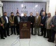 مؤتمر صحفي لتجمع النقابات المهنية بمقر وزارة الإعلام للإعلان عن رفضه لـ