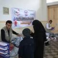 مشروع رواد يوزع مساعدات على الفقراء
