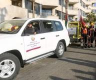 الداخلية تتسلم معدادت للدفاع المدني من قطر