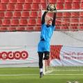 من تدريبات منتخبنا الوطني الفدائي على ملعب فيصل الحسيني