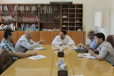 بلدية غزة تطلع استشاري البنك الدولي على مشاريعها التطويرية