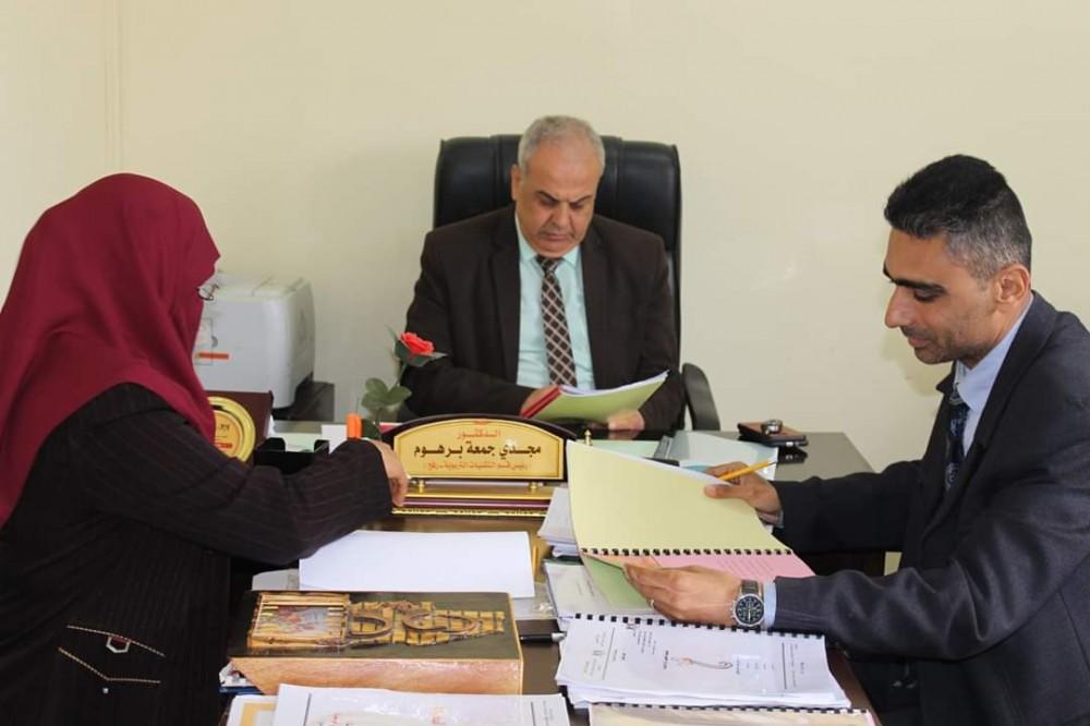 مدير تعليم رفح يتفقد لجنة تحكيم مسابقة تاج المعرفة (١٣)