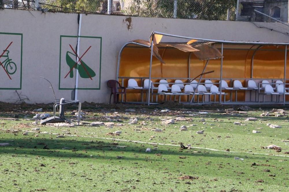 تضرر الملعب