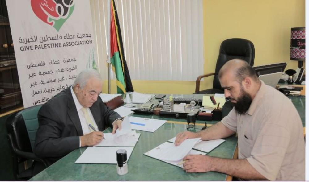 عطاء فلسطين الخيرية وبلدية النصر يوقعان اتفاقية مشروع تحلية المياه