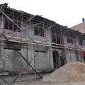 بناء أحد المنازل في غزة