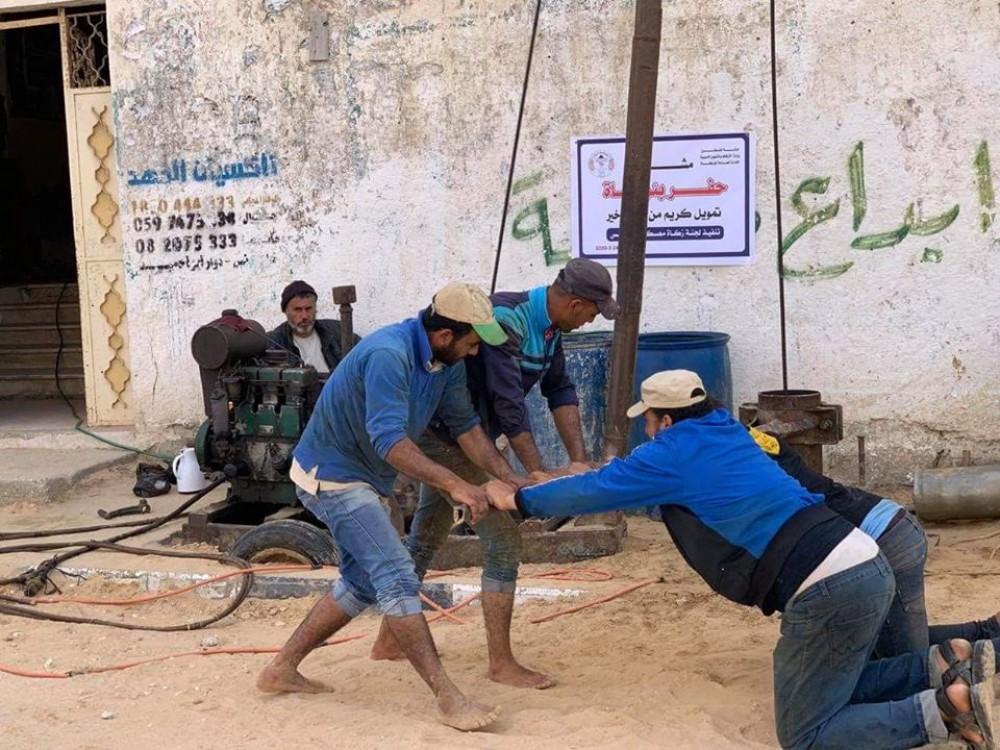 مشروع حفر بئر مياه لمسجد الصالحين