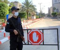 شوارع مدينة غزة خلال حظر التجوال تصوير مدحت حجاج