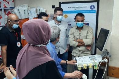 طوارئ المستشفيات يستأنف الشق العملي لدورة استخدام جهاز الالتراساوند