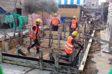 بلدية جباليا النزلة تنفذ مشروع تطوير بئر مركزي في المخيم