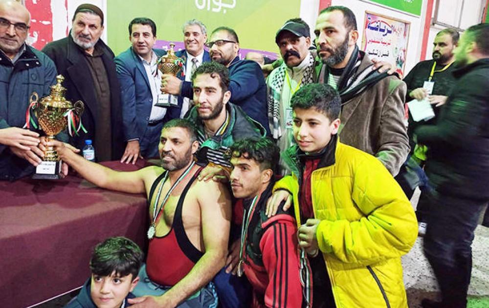 خدمات جباليا يفوز بكأس بطولة المصارعة الحرة والرومانية