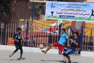 بناة الغد  يفتتح خماسي كرة قدم لفرق الساحات الشعبية