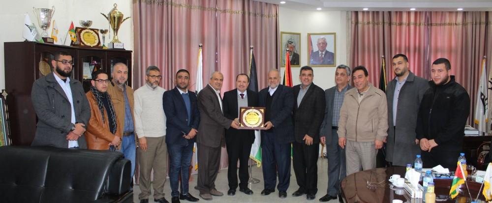 جامعة الأقصى تستقبل وفداً من حركة الجهاد الإسلامي وفضائية فلسطين