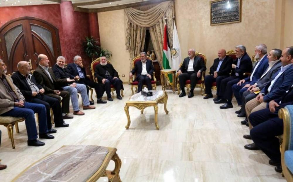 جانب من لقاء قيادة الحركتين بالقاهرة