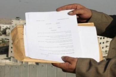 الاحتلال يخطر عائلات فلسطينية بالرحيل عن الأغوار