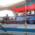 ذوي الإعاقة يبحرون في قارب مطالبين  برفع الحصار لإدخال أدواتهم المساعدة