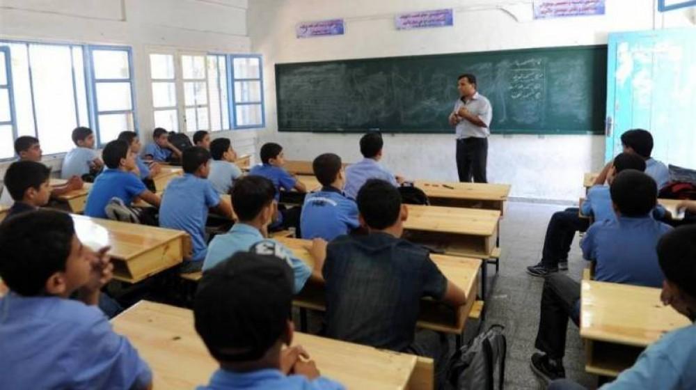 أحد المعلمين في المدارس