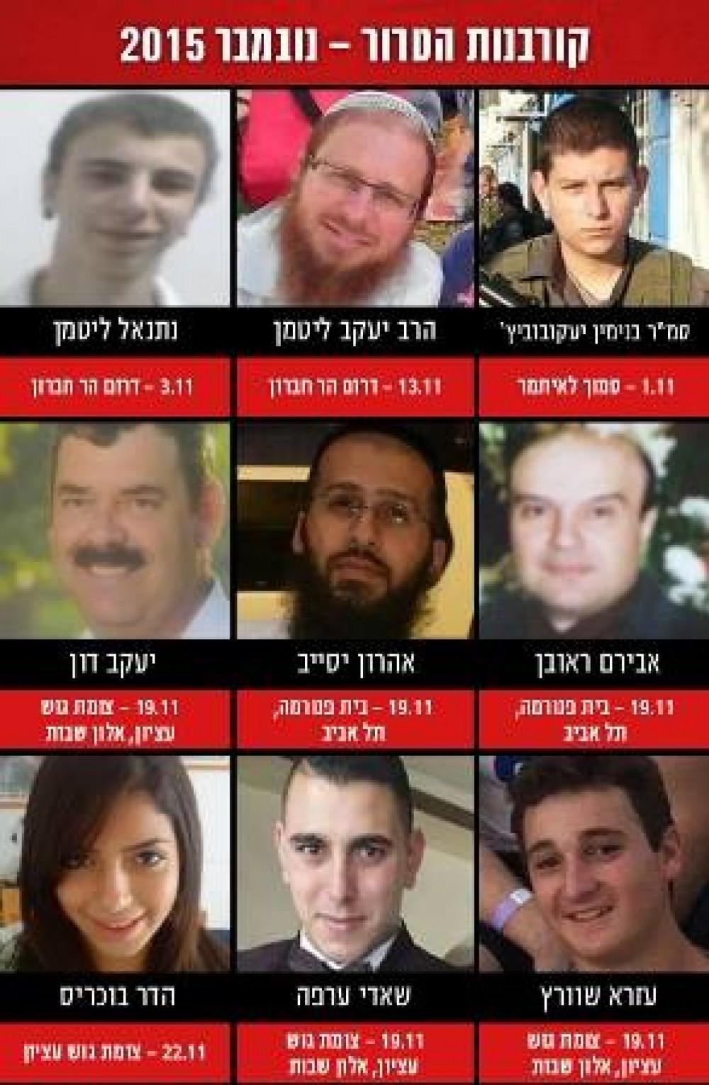 المستوطنين القتلى في عمليات الضفة