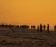شاطىء غزة بعد انحسار المنخفض الجوي تصوير|| عطية درويش