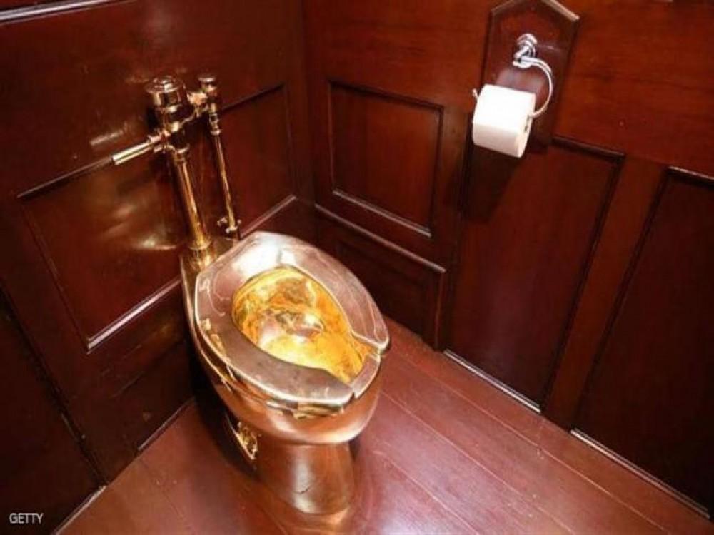 سرقة مرحاض ذهبي بقيمة أكثر من مليون دولار من قصر بريطاني