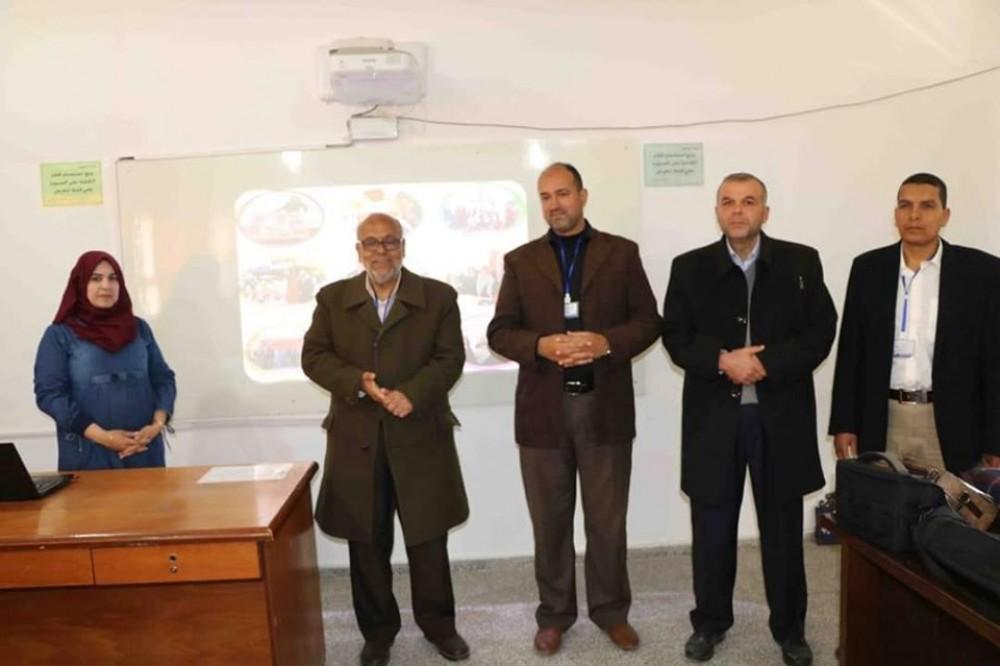 تعليم شرق خان يونس يشرع في تقييم المرشحين لجائزة الأمانة العامة(1)