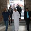 السفير العمادي في المسجد العمري