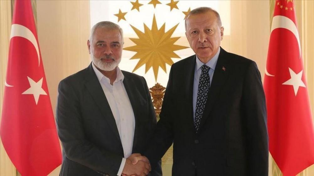 الرئيس أردوغان يلتقي هنية في إسطنبول