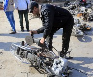 المؤتمر الصحفي الذي عقدته الإدارة العامة لشرطة المرور لإعلان إجراءاتها بضبط الدراجات النارية الغير قانونية. تصوير: عطية درويش
