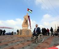 افتتاح ميدان الجرحى غرب مدينة غزة - تصوير/ عطية درويش