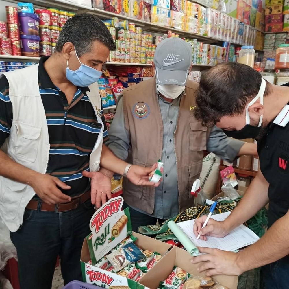 الاقتصاد: 157زيارة تفتيشية و43 محضر ضبط وإتلاف لبضائع ومواد غذائية
