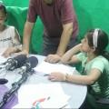 حلقة إذاعية للأطفال الموهبين بمخيم إعمار الصيفي  بخان يونس