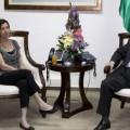 عباس وزعيمة حزب ميرتس