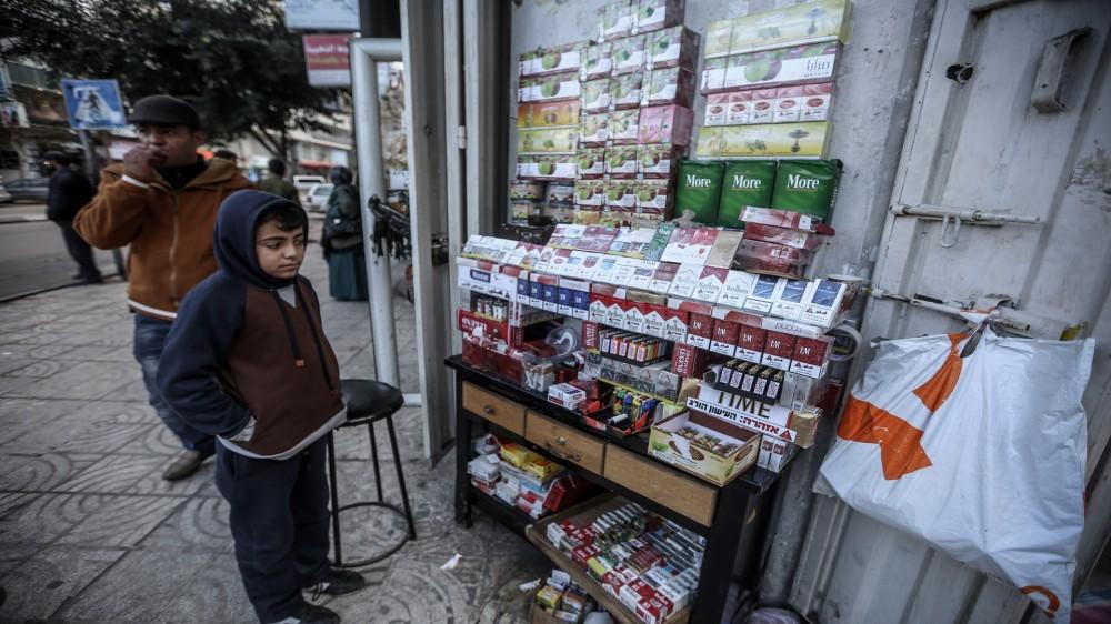 بسطة سجائر في غزة