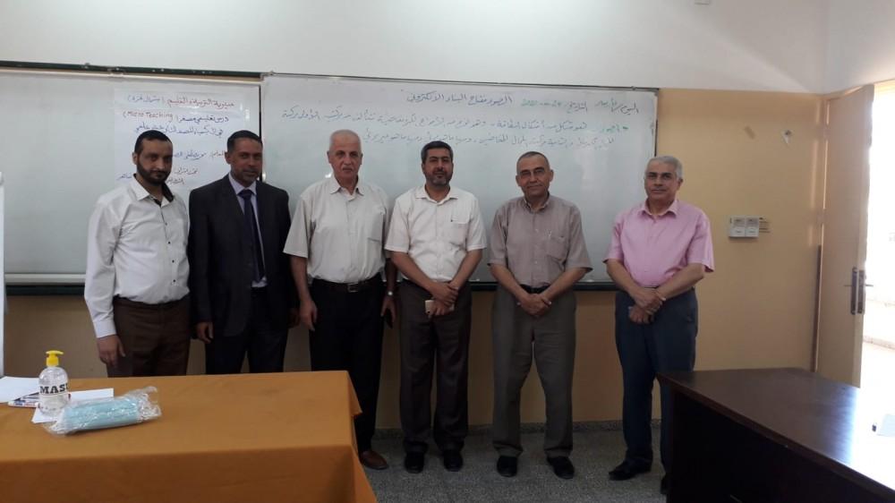 تعليم شمال غزة تنفذ درساً تعليمياً مصغراً في مبحث الكيمياء