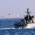 أحد سفن الاحتلال الحربية قبالة قطاع غزة