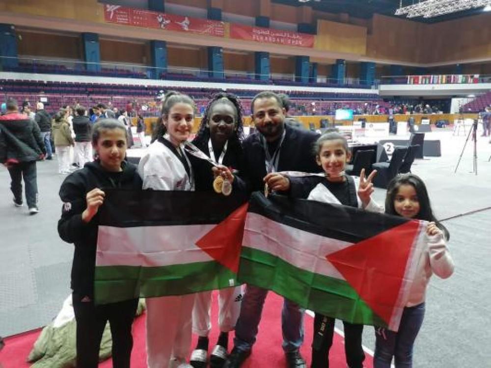 فلسطين تحصد 11 ميدالية ملونة في بطولة الحسن الدولية للتايكواندو