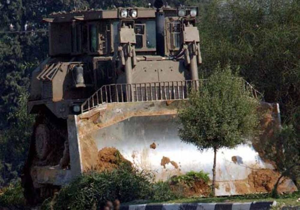 تجريف الاحتلال اراض زراعية