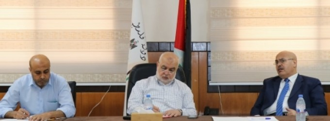 المستشار عابد يؤكد على أهمية زيارة عدد قضاة التنفيذ بمحافظات غزة