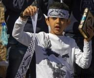 صور اعتصام على درجات باب العامود بالقدس تنديدا بتدنيس المصحف الشريف